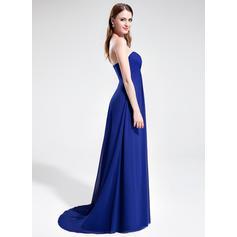 Barrer/Cepillo tren Gasa Corte imperial Novio Vestidos de baile de promoción (018025595)