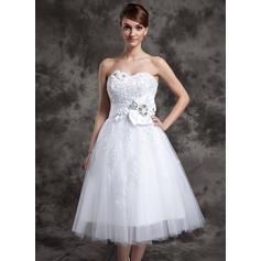 Luxurious Sleeveless Sweetheart With Tulle Wedding Dresses (002210461)