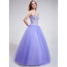 Tul Princesa Corte de baile Hasta el suelo Vestidos de baile de promoción (018025286)