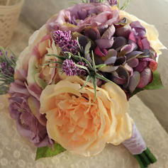Bridal Bouquets/Bridesmaid Bouquets Round Wedding Satin The color of embellishments are shown as picture/Color & Style representation may vary by monitor Wedding Flowers