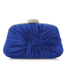 Clutches Wedding/Ceremony & Party Satin Clip Closure Unique Clutches & Evening Bags