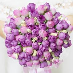 "Bridal Bouquets Round Wedding Artificial Silk 9.84""(Approx.25cm) Wedding Flowers"