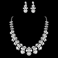 Jewelry Sets Alloy/Rhinestones Lobster Clasp Earclip Gorgeous Wedding & Party Jewelry