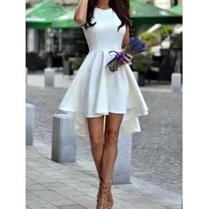 Newest Homecoming Dresses A-Line/Princess Short/Mini Asymmetrical Scoop Neck Sleeveless