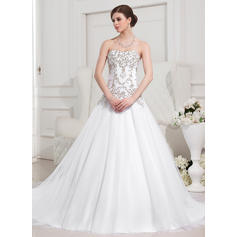 Fashion General Plus Sweetheart Ball-Gown Tulle Wedding Dresses (002196876)