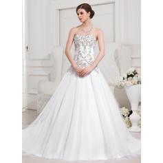 Mode Standard Grande taille Chérie Robe Marquise Tulle Robes de mariée (002196876)