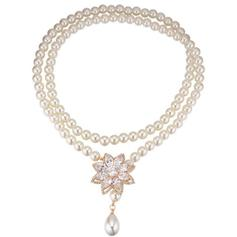 Necklaces Zircon Lobster Clasp Ladies' Shining Wedding & Party Jewelry