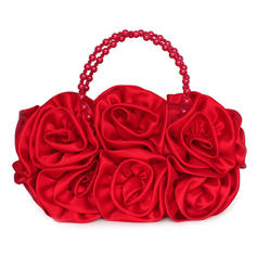 Clutches/Wristlets Ceremony & Party Silk Zipper Closure Gorgeous Clutches & Evening Bags