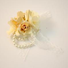 """Armbandblume Mid Hand Gebunden Hochzeit Satin 1.18""""(Ungefähre 3cm) Brautstrauß"""