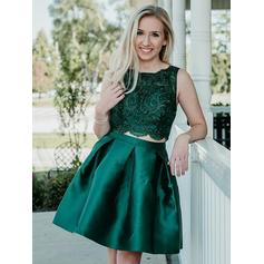 Magnificent Homecoming Dresses A-Line/Princess Knee-Length Scoop Neck Sleeveless