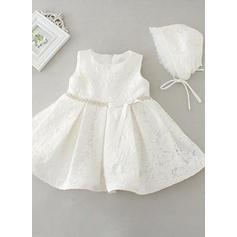 Satiné Col rond À ruban(s) Robes de baptême bébé fille (2001216834)