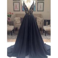dark blue mermaid prom dresses