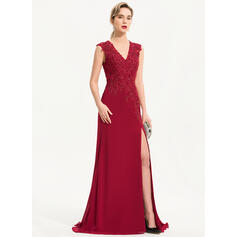 red lace long sleeve evening dresses
