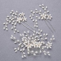"Hairpins/Combs & Barrettes Wedding/Special Occasion/Casual/Outdoor/Party/Carnival/Art photography Alloy/Imitation Pearls 5.53""(Approx.14cm) 0.78""(Approx.2cm) Headpieces"