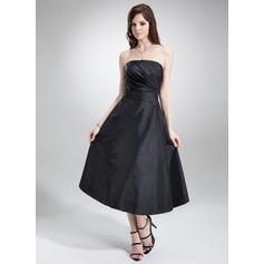Magnificent A-Line/Princess Strapless Taffeta Bridesmaid Dresses