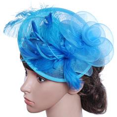Damer' Vackra Och/Gorgeous/Särskilda/Glamorösa/Klassisk stil Batist med Fjäder Diskett Hat