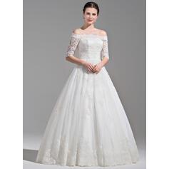 perle havfrue brudekjoler lang ærme