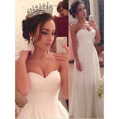 Princess Chiffon Wedding Dresses A-Line/Princess Floor-Length Sweetheart Sleeveless