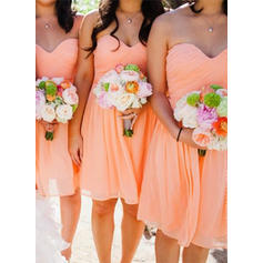 Sweetheart A-Line/Princess Chiffon Sleeveless Bridesmaid Dresses
