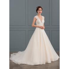 straight cut lace wedding dresses