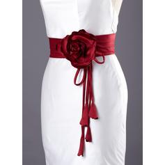 Flower Girl Satin With Flower Sash Elegant Sashes & Belts