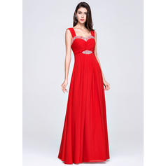 Empire Chiffon Sweetheart Sleeveless Evening Dresses (017017358)