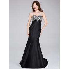 Sweep Train Taffeta Trumpet/Mermaid Sweetheart Prom Dresses (018034502)