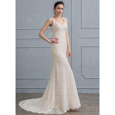 robes de mariée de style sirène à manches longues