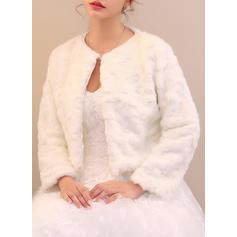 Wrap Special Occasion Faux Fur Ivory Wraps