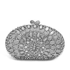 Clutches/Wallets & Accessories/Bridal Purse/Fashion Handbags/Makeup Bags Wedding/Ceremony & Party/Casual & Shopping Alloy Elegant Clutches & Evening Bags
