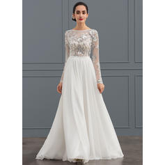 Forme Princesse - Mousseline de soie Tulle Robes de mariée (002134548)