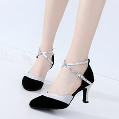 Women's Ballroom Heels Suede Dance Shoes