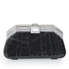 Clutches/Wristlets Wedding/Ceremony & Party Crystal/ Rhinestone/Sequin Snap Closure Charming Clutches & Evening Bags