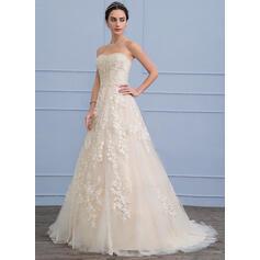 plus størrelse sølv vinter brudekjoler