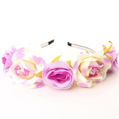 "Flower Girl's Headwear/Flowers & Feathers/Headbands Wedding/Art photography Fabric 6.69""(Approx.17cm) 6.69""(Approx.17cm) Headpieces"