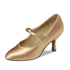 Women's Ballroom Heels Pumps Satin Dance Shoes
