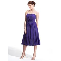Amoureux Sans manches Mousseline Princesse Robes de soirée étudiante (022214032)