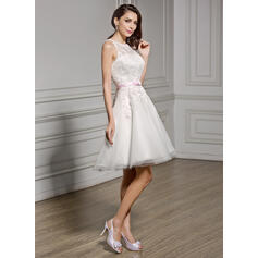 simple elegant a line wedding dresses