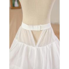 Escote redondo Corte de baile Vestidos para niña de arras Satén Flores Sin mangas Hasta el suelo (010212159)