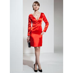 three quarter sleeve cocktail dresses
