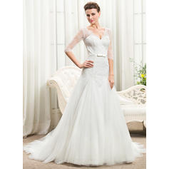 50's style long wedding dresses