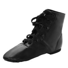 Unisex Jazz Flats Leatherette Dance Shoes