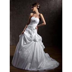 Strapless General Plus - Ball-Gown Taffeta Wedding Dresses (002196838)