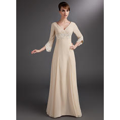 Flattering Chiffon V-neck Empire Mother of the Bride Dresses (008006084)