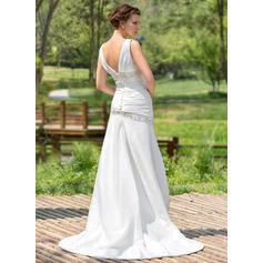 madre beige de los vestidos de novia