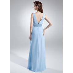 vestidos de dama de honor de manga larga azul