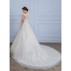 robes de mariée en cristal de taille plus