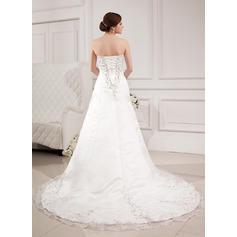 billig vakre elfenben brudekjoler