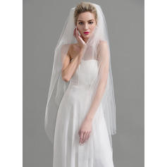 Waltz Bridal Veils Tulle Two-tier Oval With Cut Edge Wedding Veils