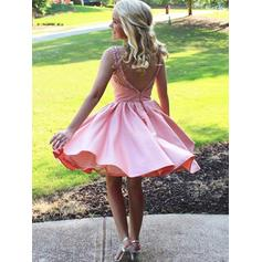 red lace homecoming dresses short